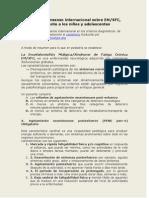Criterios de consenso internacional sobre EM reducido a los niños
