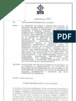 PROCURADURÍA POLÍTICAS PÚBLICAS NNA MUJER Y FAMILIA   PGNDIR001-2012