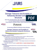 Damage Tolerance and Durability of Adhesively Bonded Composite Structures