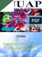 RESUMEN DE LOS ENFOQUES DEL ANÁLISIS ADMINISTRATIVO