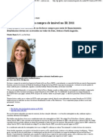 G1 - Saiba como declarar a compra de imóvel no IR 2011 - notícias em Imposto de Renda 2011