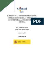 Impacto Convencion Internacional Derechos de la persona con discapaciad Ley España