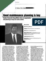 Good Maintenance Planning is Key