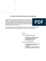 Six Week Social Media Newsroom Training Plan