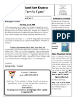 April Newsletter 2012