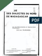 Velonandro. 1983. Les dialectes du Nord de Madagascar