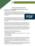 LINDSCHULTE weiterhin nach ISO und SCC zertifiziert