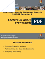 Lecture 2 - Analysing Profitability S2012