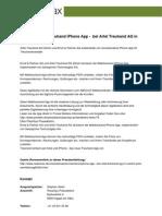 Revolutionäres Treuhand iPhone App -  bei Artel Treuhand AG in Zürich