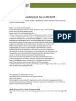 Buch Veröffentlichung Geheimnis Seo von Dirk Schiff