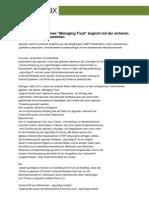 """CeBIT 2012 - effektives """"Managing Trust"""" beginnt mit der sicheren Unterschrift in Dokumenten"""