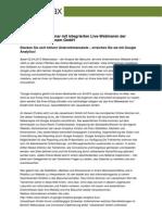 Neues Online-Seminar mit integrierten Live-Webinaren der Schweizer Valuestream GmbH