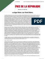 Visage Blanc Sur Fond Blanc