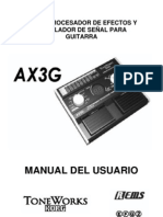 Manual Pedalera Korg AX3G