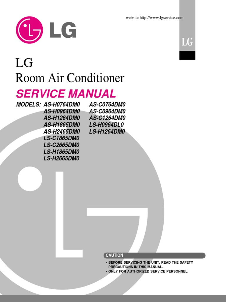 LG Split Type Air Conditioner Complete Service Manual | Air ...