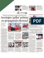 02-04-12 Aventajan Gallos Priistas en Propaganda Electoral
