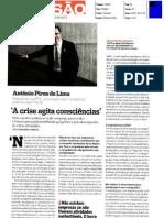 A crise agita consciências - Dr. António Pires de Lima