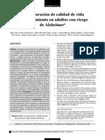 Autovaloracion de Calidad de Vida en Adultos Con Alzheimer