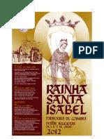 Cartaz das Festas da Rainha Santa 2012