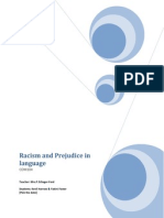 Racism and Prejudice in Language