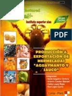 Produccion y Exportacion de Mermeladas de Aguaymanto y Sauco