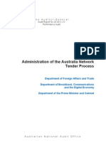 Administration of the Australia Network Tender Process