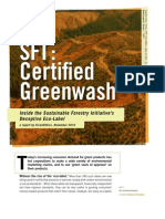 SFI Certified Greenwash Report