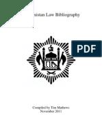 Afghanistan Law Bibliography 3rd Ed