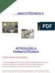 1 Aula de Farmacotecnica II