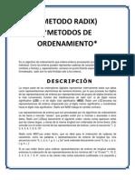METODO RADIX resumen