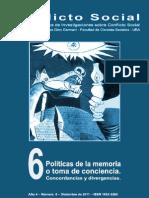 Conflicto Social, nº 06, diciembre 2011 - Políticas de la memoria o toma de conciencia