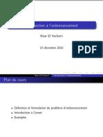 Introduction a l Ordonnacement Ordonnacement Et Planification Cours 15-12-10