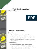 CML Optimization Ryan Sitton
