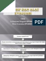 Prinsip Dan Alat Evaluasi