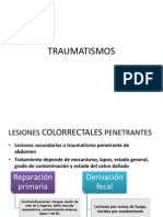 TRAUMATISMOScolorrectales