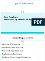 Cost Analysis Ppt Bec Bagalkot Mba