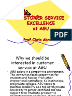 Customer Service Excellence at Agu