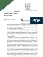 Théories du choix rationel ou modèle général de l'action - « Choix rationnels »,conflit ethnique et culture - ci05p50-58