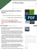 15 Stunning Minimalist Wordpress Themes