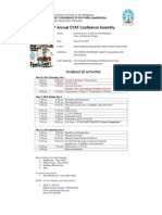 Schedule of Activites 2012