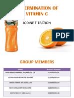 Determination of Vitamin c