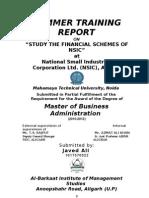 Summer Training Report (Javed Ali)