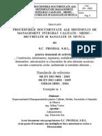 Sistemului de Manag Integrat Calitate-mediu-securitate Si Sanatate in Munca