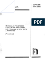 3606-00. Materiales Peligrosos Calificacion Profesional Del Personal de Respuesta a Incidentes Provisional)