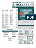 Eagles-Browns Media Notes (Eagles)