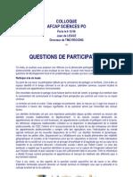 TMO Régions - Questions de Participation Par Jean de LEGGE