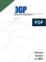434-05 Human Factors in QRA - OGP