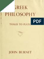Burnet - Greek Philosophy