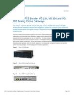 Cisco 112-FXS Bundle, VG 224, VG 204 and VG 202 Analog Phone Gateways