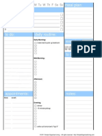 Blank Dialy Planner Sheet